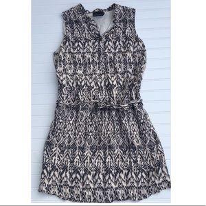 CYNTHIA ROWLEY Ikat print linen dress